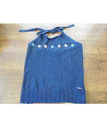 WOMENS HALTER TOP BY TOMMY HILFIGER NAVY BLUE - $5.90