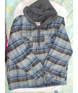 Open Trails Men's 3XL Blue/Gray Plaid Hooded Co... - $38.61