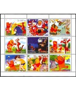 CONGO DISNEY'S WINNIE THE POOH SHEETLET OF NINE STAMPS - $14.95