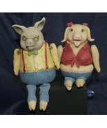 Vintage WMG Poly Resin Shelf Sitter Figurine Set of 2 Grandpa & Grandma  - $27.41