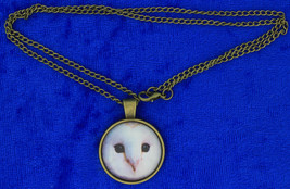 Hedwig Snow Owl Necklace Cabochon Style Chain Style Length Choice - $4.99+