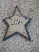 WD808 - Love Hanging Wood Star - $1.95