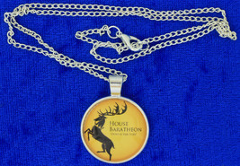 House Baratheon Necklace Ours is the Fury Game of Thrones Chain Length C... - $4.99+