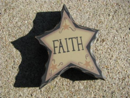 WD902 - Faith Wood Standing Star  - $2.95