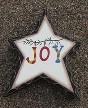 WD909- Joy Wood Standing Star  - $2.95