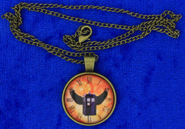 Tardis Winged Police Box Necklace Doctor Who Dr Who Chain Style Length C... - $4.99+