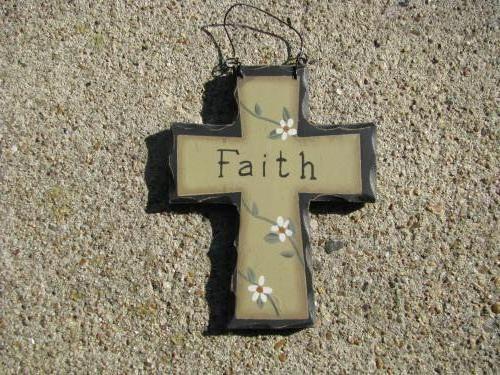 WD803 - Faith Mini Wood Cross  - $1.95