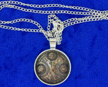 Timelord necklace silver cabochon brown thumb155 crop