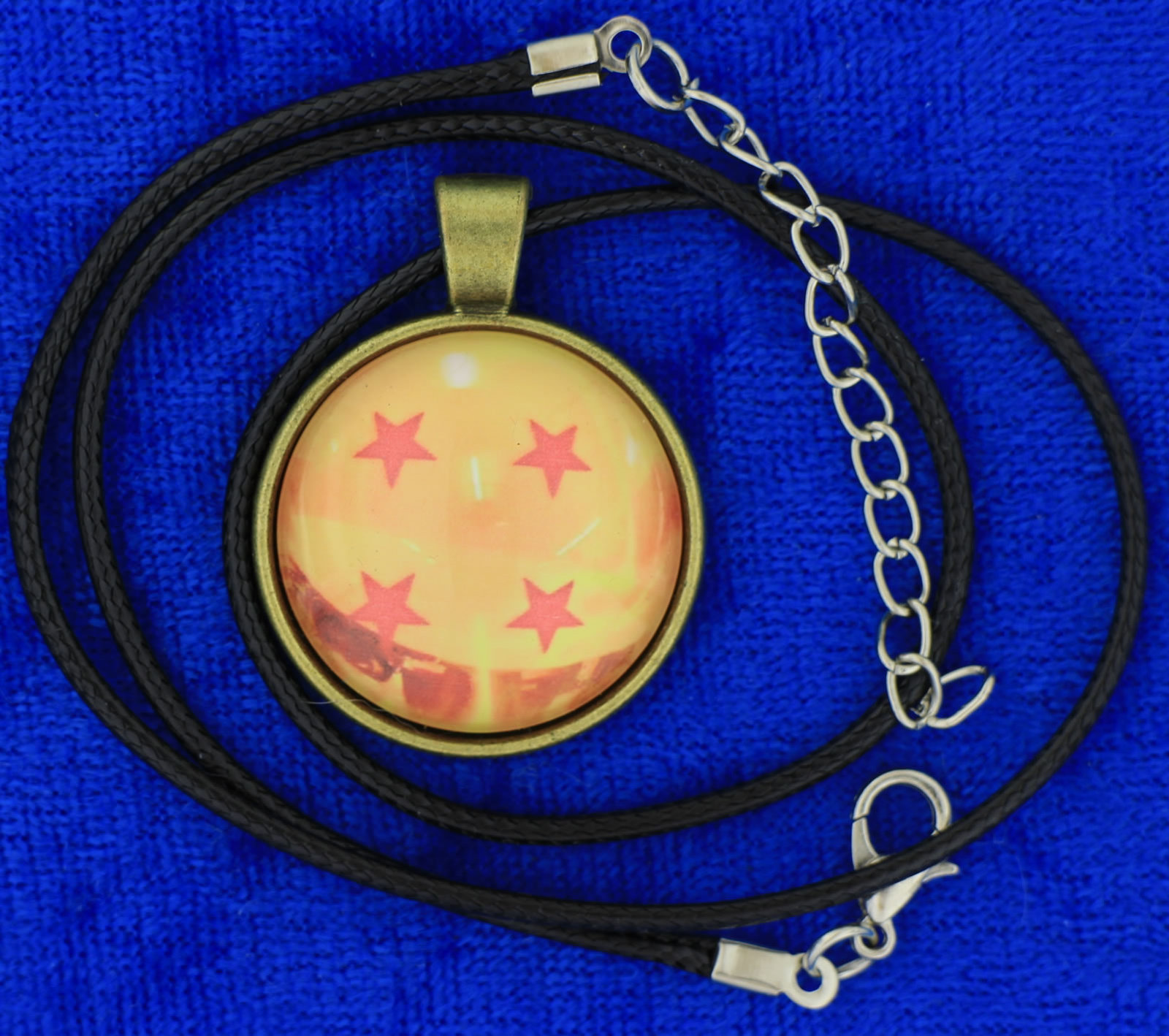 Dragon Ball Z Necklace Cabochon Style Anime Chain Style Length Choice