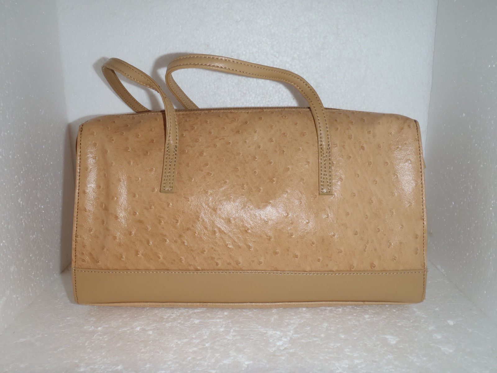 Tan Leather Purse By Stone Mountain Ostrich And 10 Similar Items
