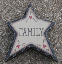wd906 - Family Wood Standing Star  - $2.95