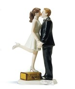 """A Kiss and We're Off!"" Wedding Cake Topper CUSTOMIZATION AVAILABLE Rece... - $41.57"