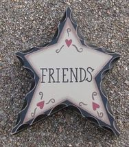 wd907-Friends Wood Standing Star  - $2.95