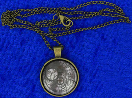 Timelord Necklace Seal on Ancient Paper Doctor Who Chain Style Length Ch... - $4.99+