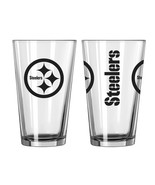 PITTSBURGH STEELERS 16 OZ GAMEDAY TEAM LOGO PINT GLASS FROM BOELTER - $6.00