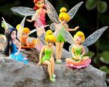 Disney Fairies Figure Tinkerbell Fairy Tinker Bell Figures Cake Lot Pvc Doll Toy