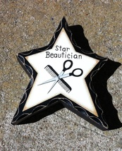 WD919 Star Beautician Wood Standing Star  - $2.95