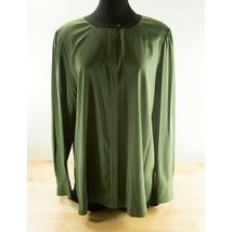 Tory Burch Green Black Colorblock Silk Button Down Blouse Top 14 NWOT  - $138.11