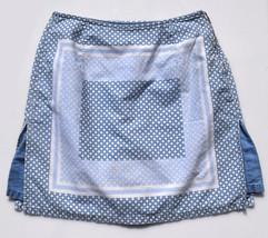 Womens Liz Claiborne Skort Size 4 100% Cotton Blue Denim White  - $13.86