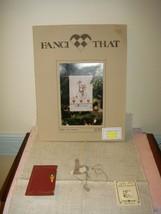 Fanci That Cross Stitch Pattern Rabbit On Wheels Pattern, Fabric, & 2 Buttons - $24.99