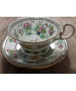 AYNSLEY Tea Cup And Saucer Wide Mouth - $10.53
