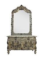 Dressing Table Mirror Wood Art Decor Furniture Vintage Vanity MB0010AF - $2,358.85
