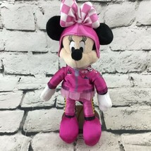Disney Store Minnie Mouse Roadster Racer Plush Pink Outfit Soft Stuffed ... - $11.88