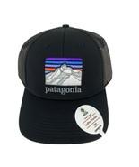 Patagonia Black Line Logo Ridge Lopro Trucker Hat Mesh Snapback New - $34.29
