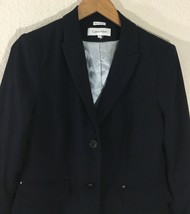 NWOT Calvin Klein Women's Two-Button Blazer/Navy Blue Jacket Sz 10 - $49.99