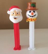 VTG Pez Dispensers ~Santa Claus & Frosty The Snowman ~ MADE IN SLOVENIA ... - $18.54