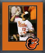 Manny Machado 2016 Baltimore Orioles - 11 x 14 Team Logo Matted/Framed Photo - $42.95