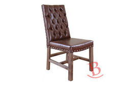 Jacks Leather Chair Real Solid Wood Elegant Rustic Western Cabin Lodge - $391.05