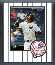 Starlin Castro 2016 New York Yankees - 11 x 14 Team Logo Matted/Framed Photo - $42.95
