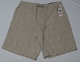 Men's Shorts Size 33 Designer Bermuda Flat Front Paisley Summer Club Roo... - $22.97