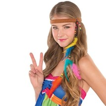 Hippie Headband Groovy 60's Feather Beads - €6,16 EUR