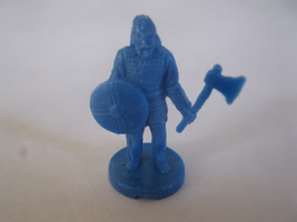 2003 Age of Mythology Board Game Piece: Norse Throwing Axeman Unit - Dark Blue  - $1.00