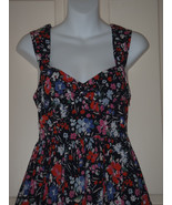 Size 4 Anthropologie Ric Rac Black Multi Floral Dress Tulle Petticoat - $37.08