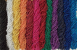 48 Choice Mardi Gras Beads Football Party Tailgate BCS Playoff 4 Dozen Lot - €11,92 EUR