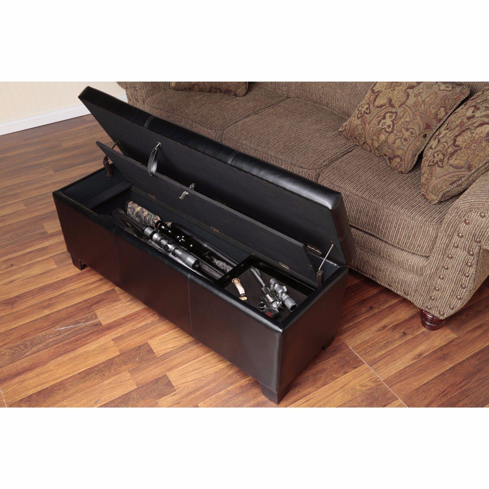Gun Concealment Furniture Locking Storage Bench Firearm ...