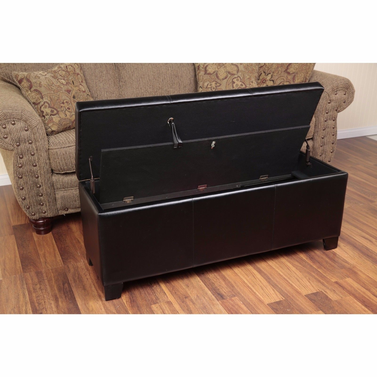 Gun concealment furniture locking storage bench firearm for Room furniture organizer