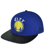 Golden State Warriors LEATHER RIP SNAPBACK 9Fif... - $22.37