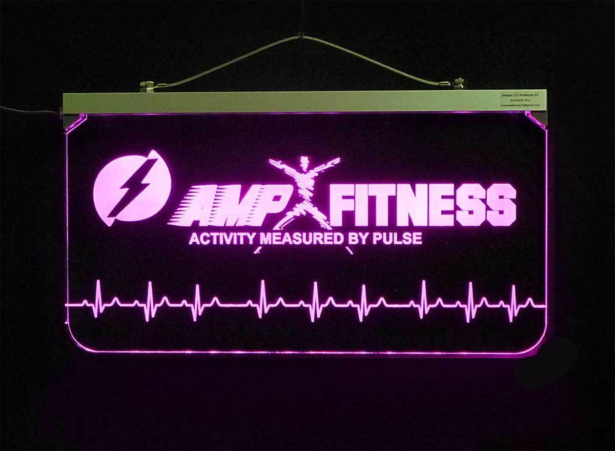 """Personalized Business Logo Sign,  Multi-color changing 3/8"""" Acrylic"""