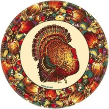 "Autumn Turkey 10 9"" Luncheon Plates Lunch Fall Thanksgiving - $3.32"