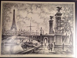 Paris Print By Leyenolre - $150.00
