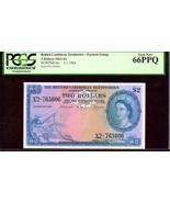 """BRITISH CARIBBEAN TERRITORIES P8c $1 """"MAP NOTE"""" 1964 PCGS 66PPQ! EXTREME... - $2,750.00"""