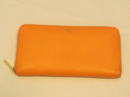 Fossil SL6688241 Sydney Zip Clutch Papaya coral Multi white wallet id NWT*^ - $89.09