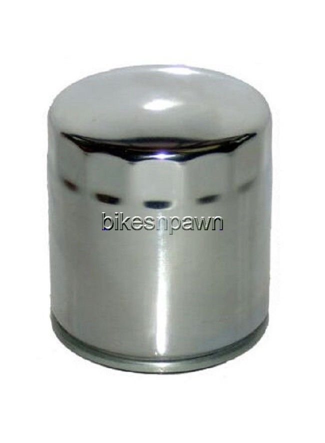 HiFloFiltro HF204C Chrome Oil Filter Artic Cat Honda Suzuki Yamaha Triumph HiFlo