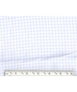 Pastel Blue Gingham Flannel, baby infant nurser... - $6.90