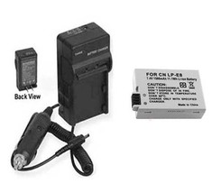 LP-E8 Battery + Charger for Canon EOS Rebel T3i 600D - $21.59