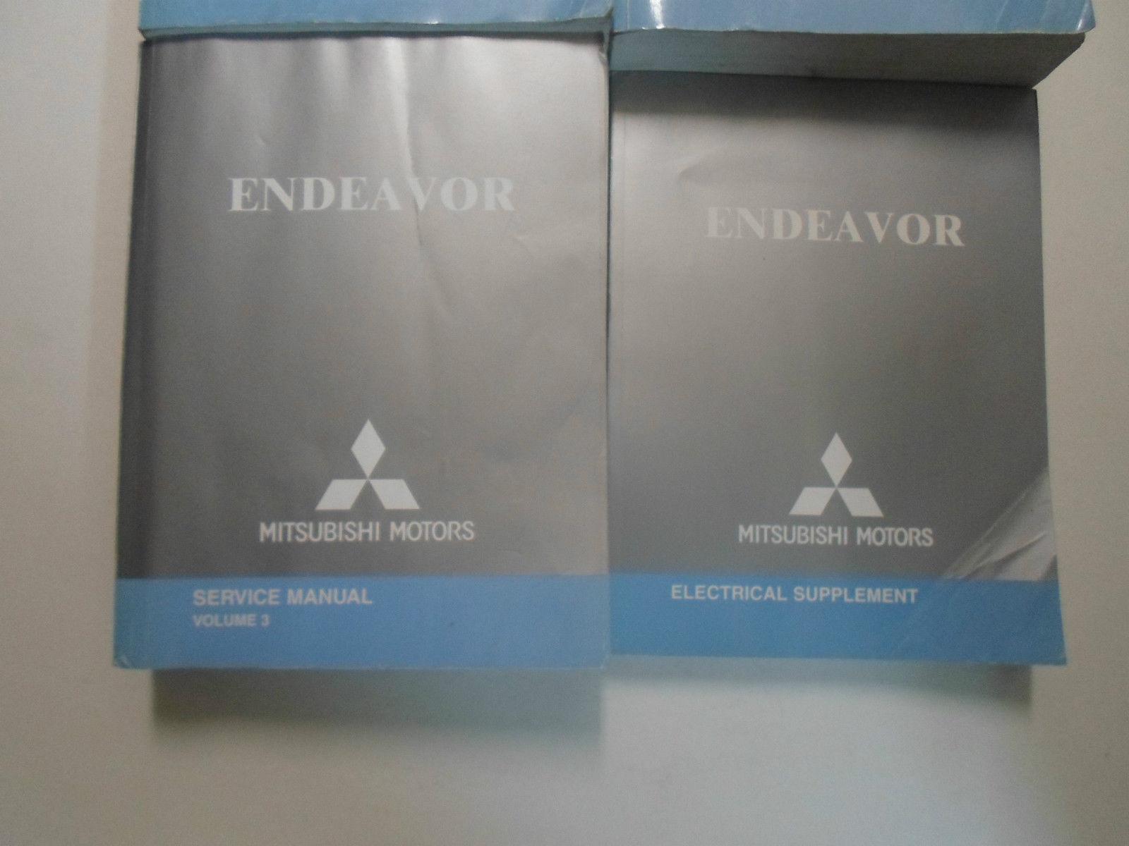 2005 MITSUBISHI ENDEAVOR Service Shop Repair Manual 4 VOLUME SET WORN FACTORY